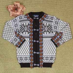 Dale of Norway Wool Brown & Cream Sweater